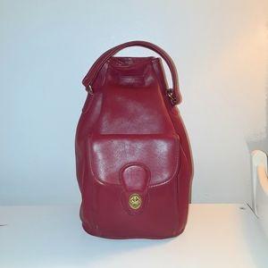 VTG Coach Red Sling Backpack
